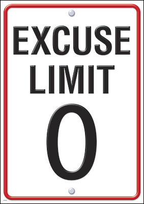 Excuse limit 0 Poster
